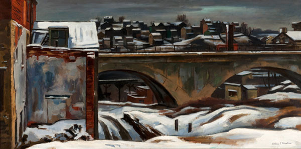 Antonio Pietro Martino: Railroad Bridge, Manayunk (c. 1942) Oil on canvas