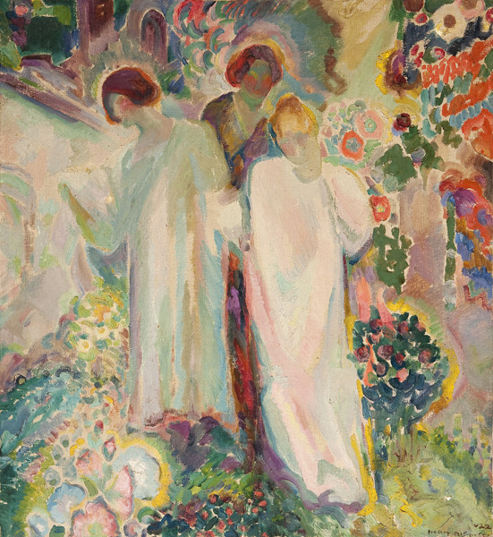 Henry McCarter: Three Women in a Garden (1922) Oil on canvas