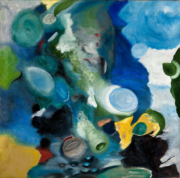 Agnes Hood Miller: Abstract Composition (late 1940s) Oil on canvas