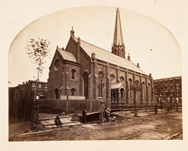 John Moran: Saint Clement's Church (1863) Albumen print
