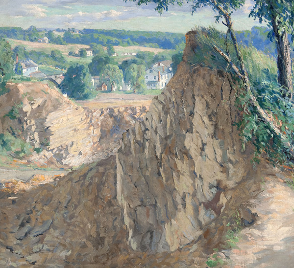 Roy C. Nuse: The Quarry at Rushland (1938) Oil on canvas