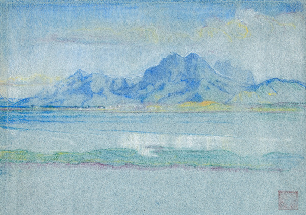 Violet Oakley: Dido's View (from the site of Carthage) (Undated) Pastel on laid paper