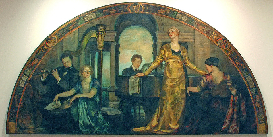 Violet Oakley: Youth and the Arts (1910-1911) Oil on canvas