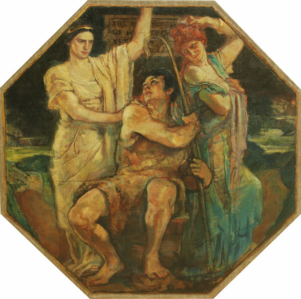 Violet Oakley: Choice of Hercules (1910-1911) Oil on canvas