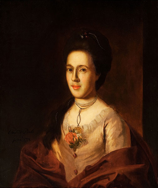 Charles Wilson Peale: Sarah Benezet Bartow (1772) Oil on canvas