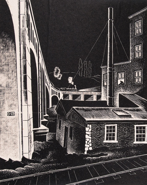 Salvatore Pinto: Power House (Undated) Wood engraving