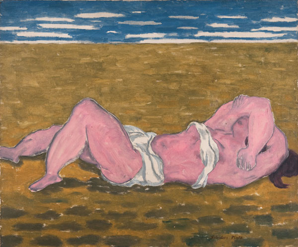 Salvatore Pinto: Woman on a Beach (c. 1933) Oil on canvas