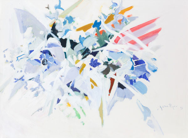 Jane Piper: Cool Blue (1981) Oil on paper