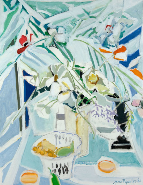 Jane Piper: [Untitled (Still Life)] (1987-1988) Oil on paper