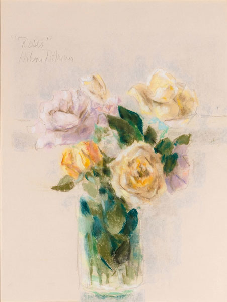 Hobson Pittman: Bouquet of Roses (Undated) Watercolor on paper