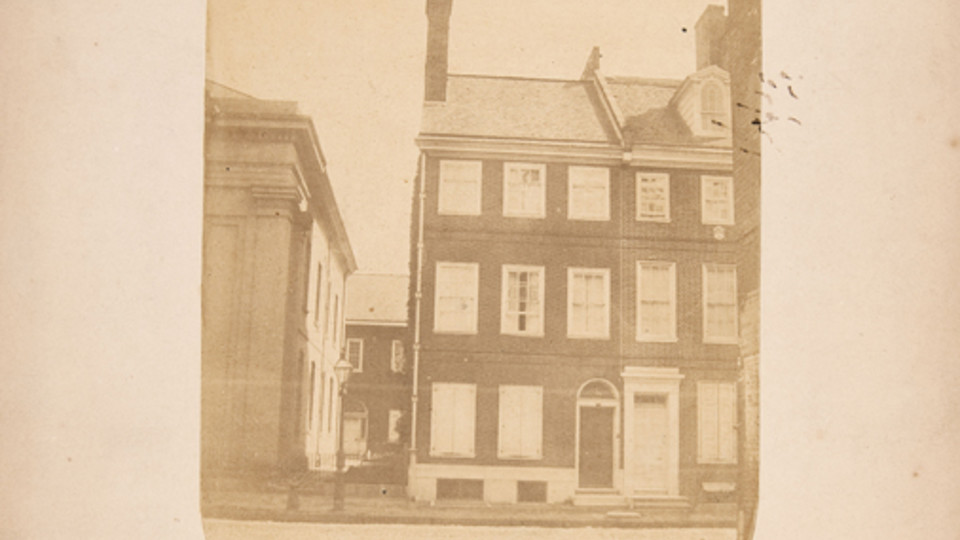 A View of the House No. 332 Spruce Street, Philadelphia