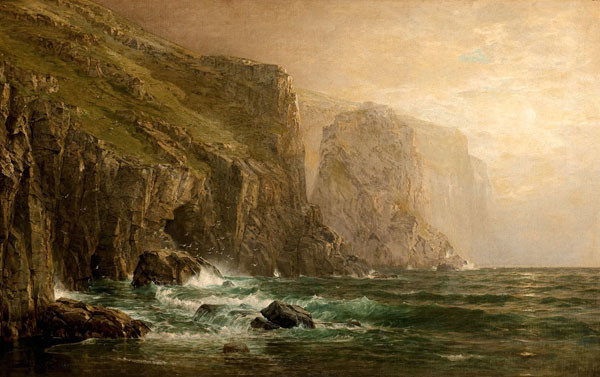 William Trost Richards: On the Cornish Coast (1883) Oil on canvas