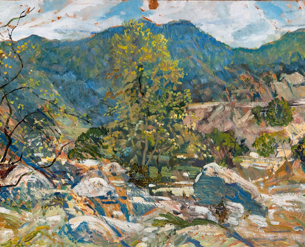 Walter Elmer Schofield: Morning Light, Tujunga (1934) Oil on board