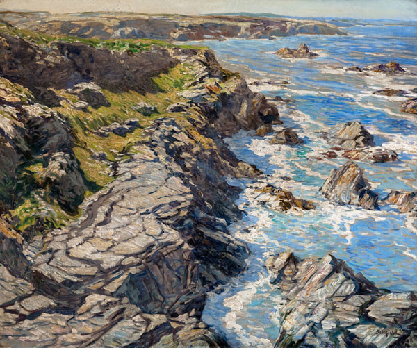 Walter Elmer Schofield: Morning Tide-Coast of Cornwall (c. 1920) Oil on canvas