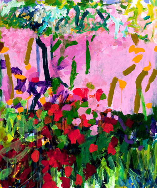 Bill Scott: Garden Fireflies (1993) Acrylic on paper