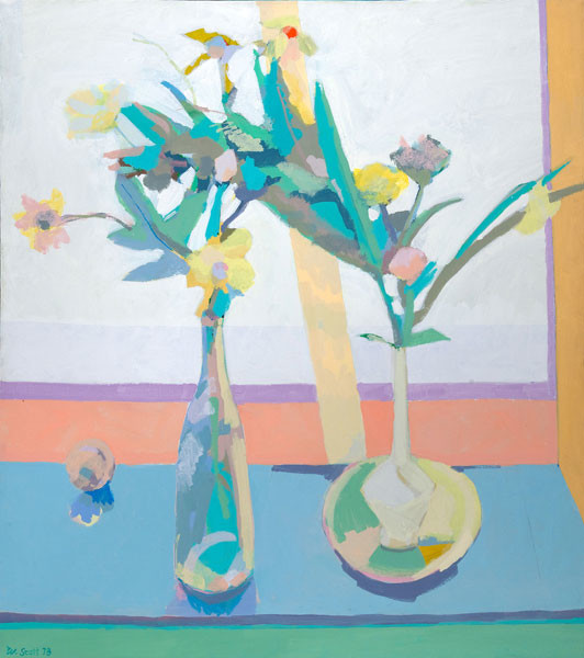 Bill Scott: White Still Life (1978) Oil on canvas