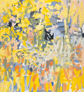 Bill Scott: Vetheuil Daffodil Yellow () Oil on canvas