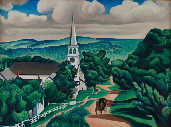 Charles Sheeler: Vermont Landscape (1924) Oil on canvas