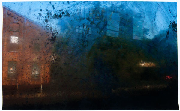 Stuart Shils: Brick Wall of Germantown Factory Through a Window (2009) Archival pigment print