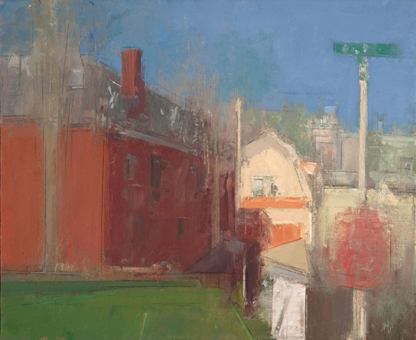 Stuart Shils: Phil-Ellena and Quincy Streets, Mt. Airy (2008) Oil on linen