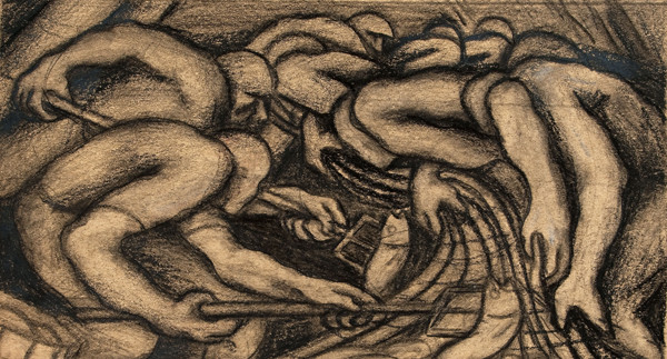 "Leon Sitarchuk: Study [for ""Seafood?""] (c. 1939) Graphite and lithographic crayon"