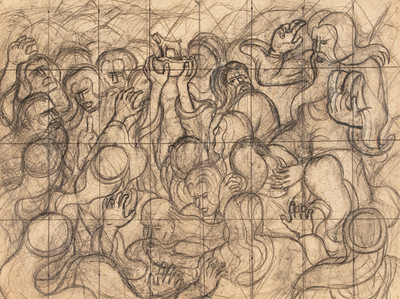 "Study for ""Moses and the Golden Calf"""