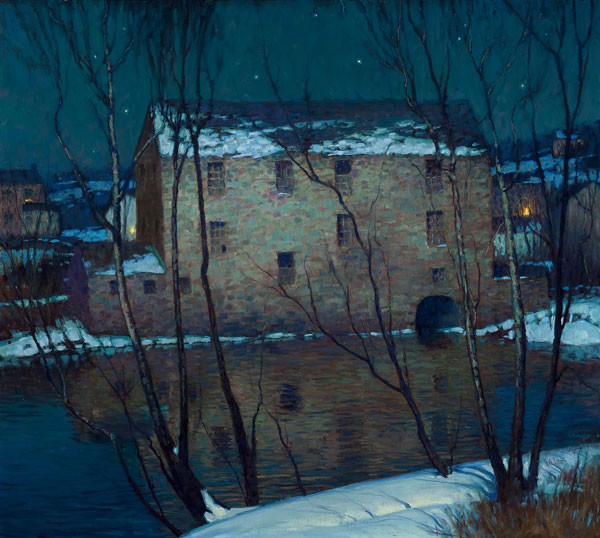 George W. Sotter: Old Mill Neshaminy Creek (c. 1920s) Oil on canvas