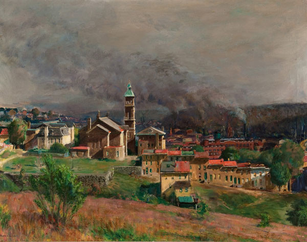 Francis Speight: Untitled (Manayunk Scene) (Undated) Oil on canvas
