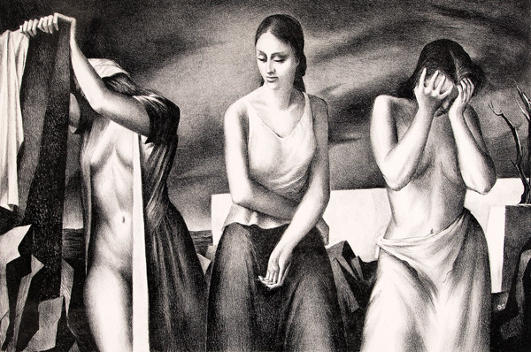 Benton Murdoch Spruance: The Lamentation (Undated) Lithograph on woven paper
