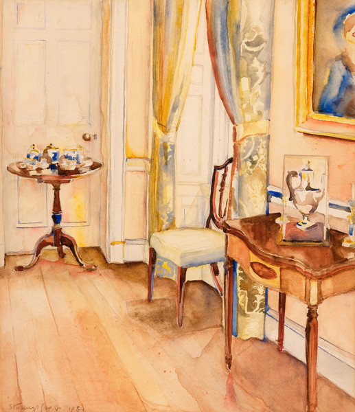 Walter Stuempfig: Interior (1931) watercolor