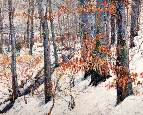 Raymond Theel: Autumn (Probably after 1943) Oil on canvas