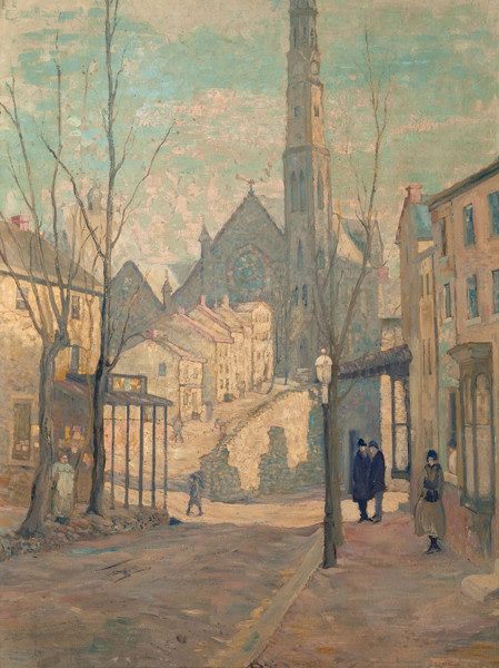 Claud Joseph Warlow: In Manayunk (Date unknown) Oil on canvas