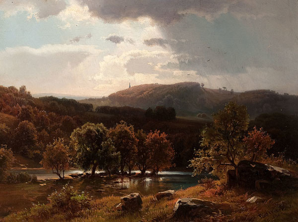 Paul Weber: Chestnut Hill Near Philadelphia (1863) Oil on canvas