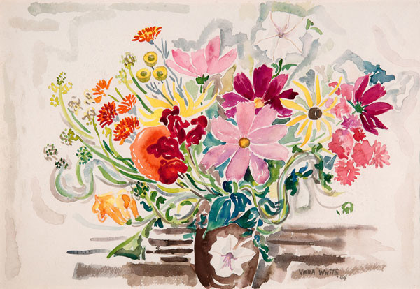 Vera White: Cosmos (c. 1940) Watercolor on paper
