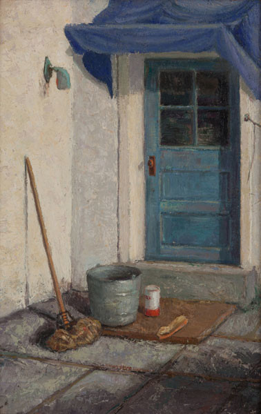 Alice Murdoch Wiler: The Back Door (Undated) Oil on canvas