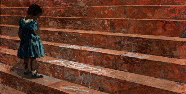 Thomas Yerxa: Brown Stone Steps (1957) Oil on canvas