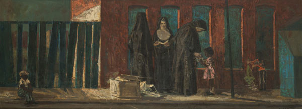 Thomas Yerxa: Three Nuns (Undated) Oil on canvas