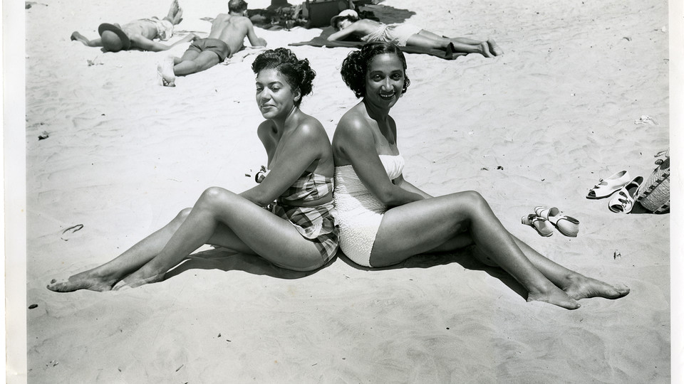 Virginia Booker and Helen Taylor on Chicken Bone Beach, Atlantic City, NJ