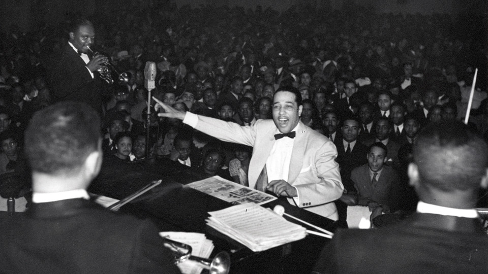 Duke Ellington and Cootie Williams at Nixon's Grand Theater, Broad Street and Montgomery Avenue, Philadelphia