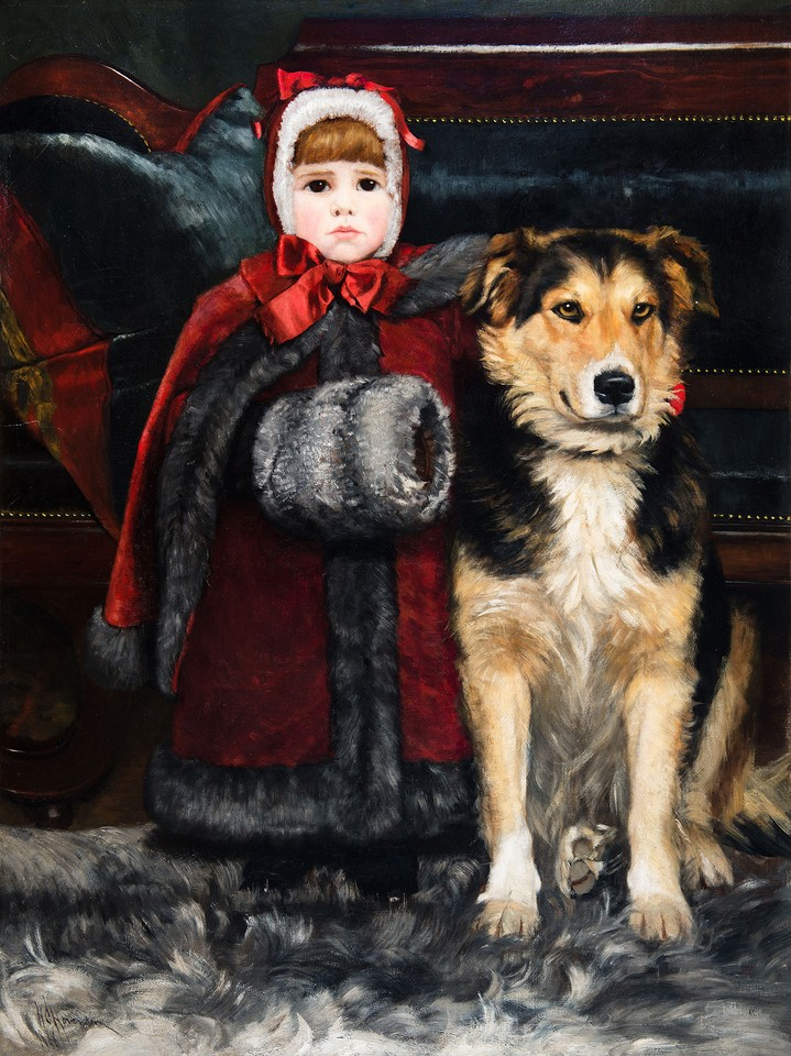 Martha Hovenden and Her Dog