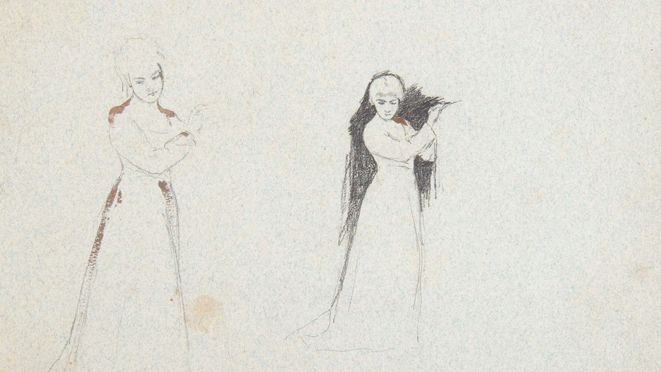 "Studies for ""Bringing Home the Bride"""