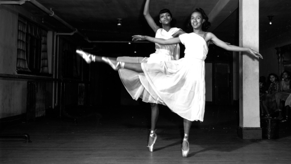 Mary Johnson and Joan Myers Brown (right) at a recital at the Sydney School of Dance, Philadelphia