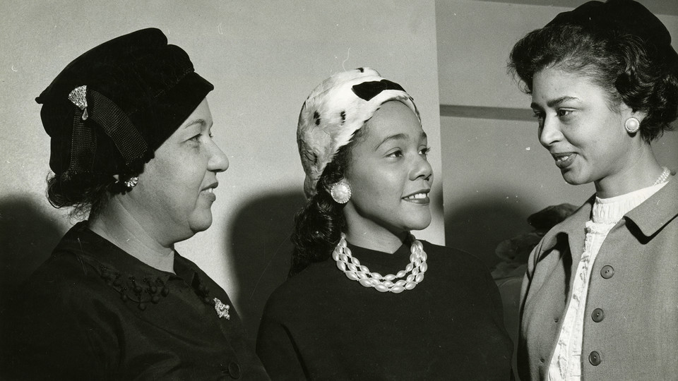 Coretta Scott at the Progressive Party Convention, Convention Hall, Philadelphia