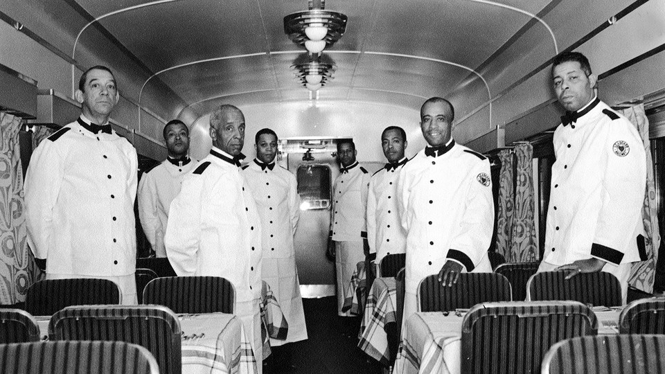 Pullman porters at Pennsylvania Station (now 30th Street Station), Philadelphia