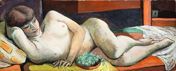 Nude with Grapes