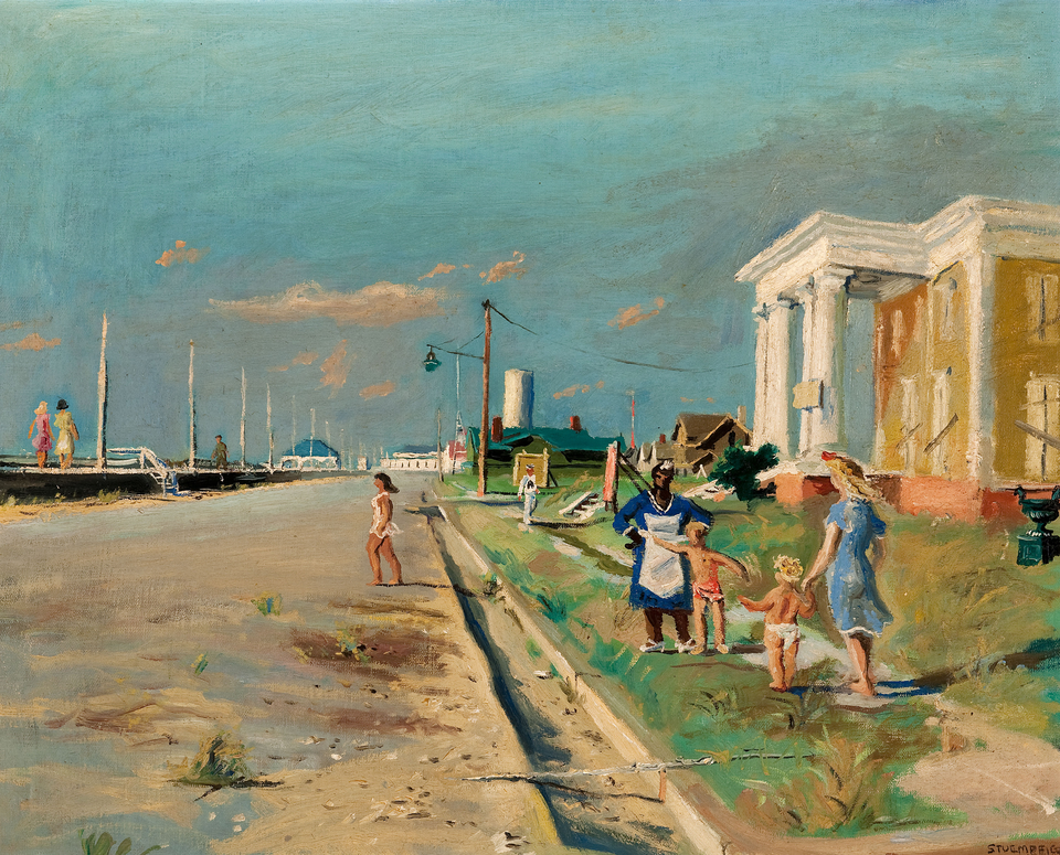 Walter Stuempfig: Cape May (Undated) Oil on canvas