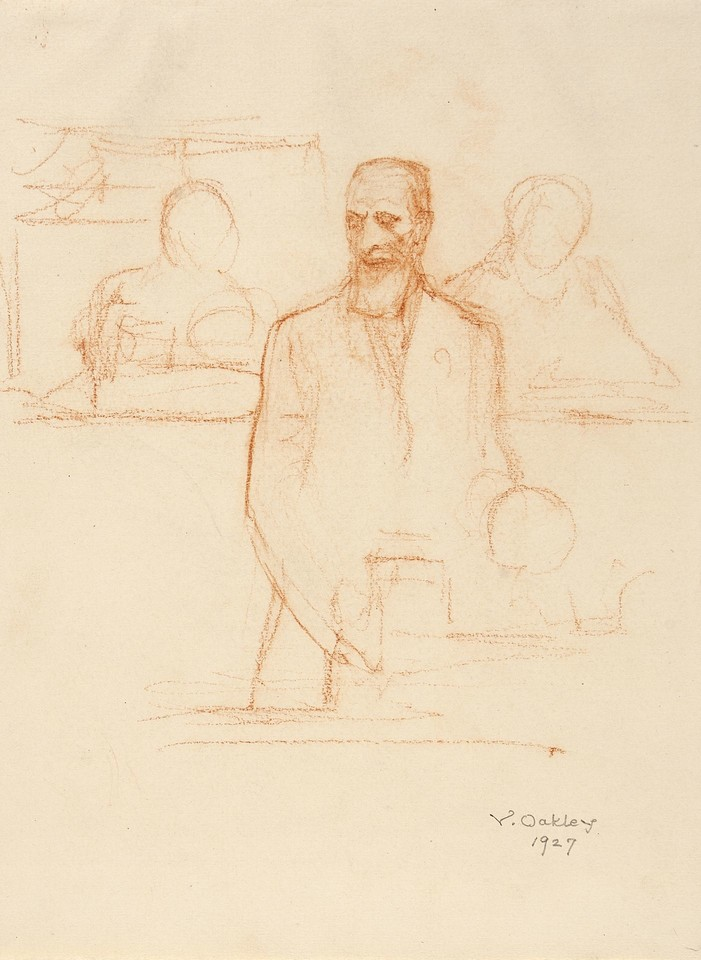 Portrait study of Count Albert Apponyi, delegate from Hungar ... Image 1