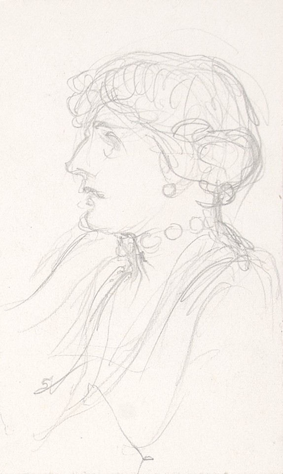 Portrait study of Alice Church Bartlett, Assistant Librarian ... Image 1