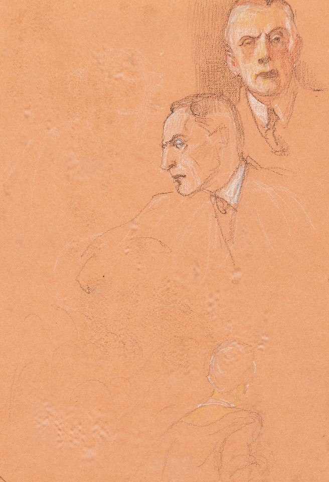Portrait head studies of Sir Austen Chamberlain, delegate fr ... Image 1