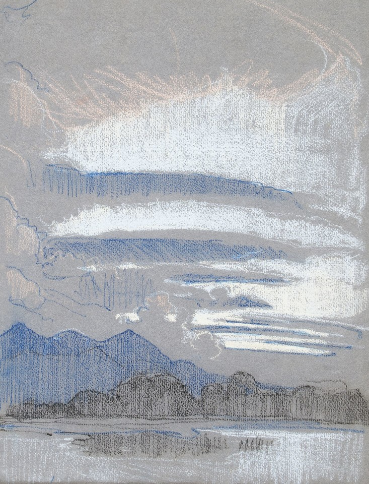 Study of sky and mountains over Lake Geneva Image 1